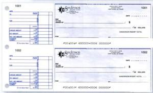 Hand written Business Cheque