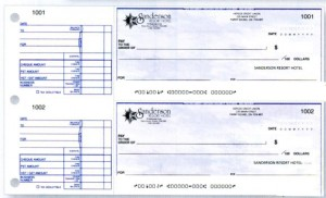 Hand written Business Cheque