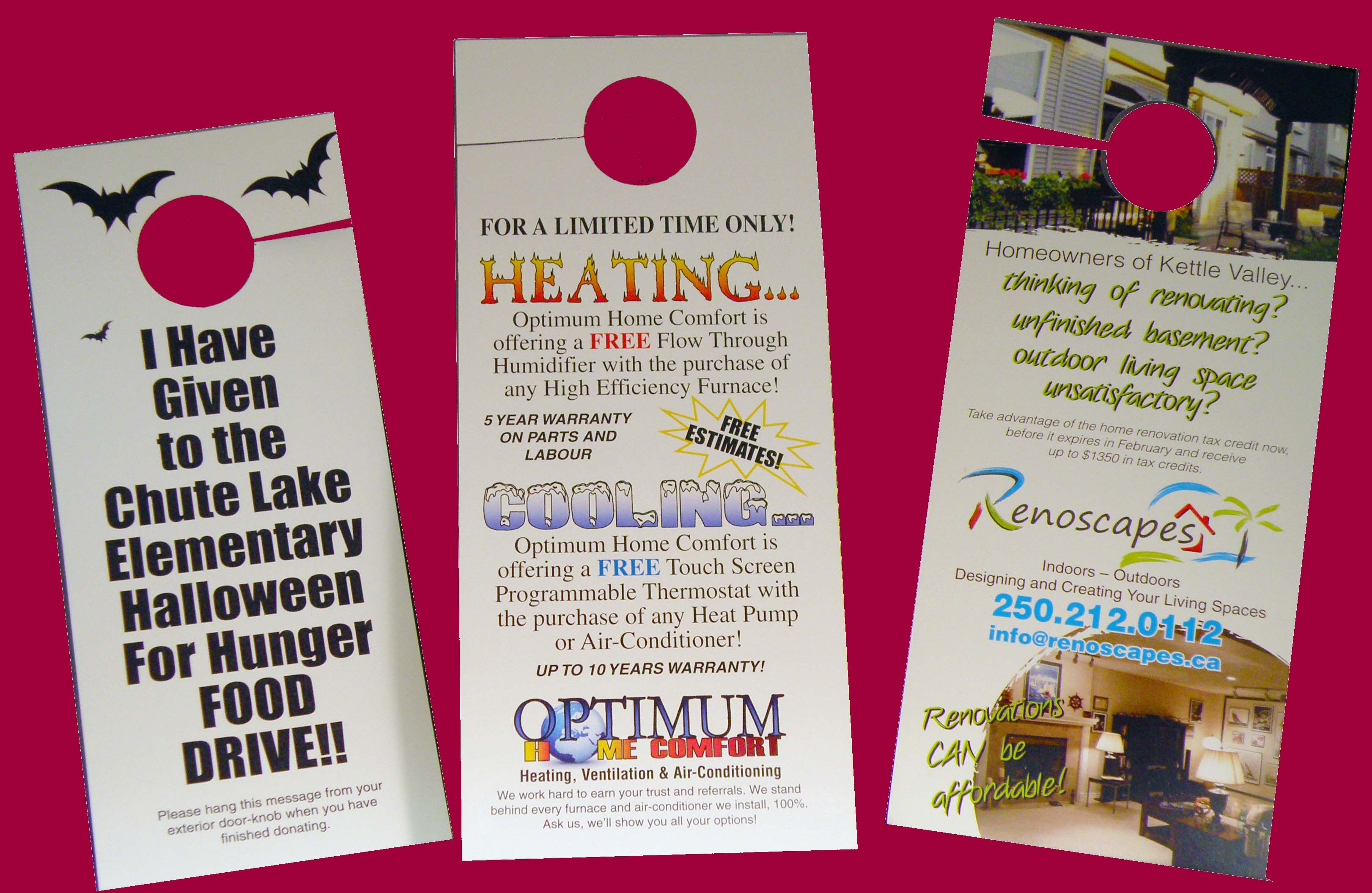 estate front doorhanger real door hangers hanger order t